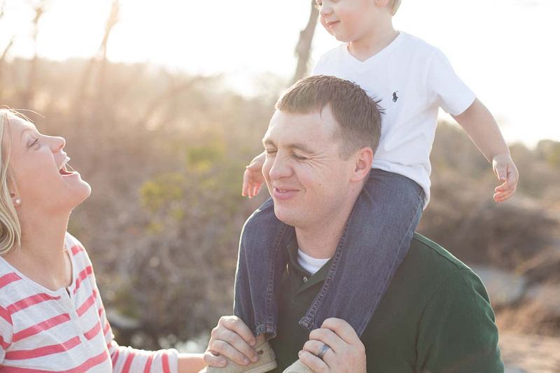 Austin McKinney Falls mom and dad play with little boy