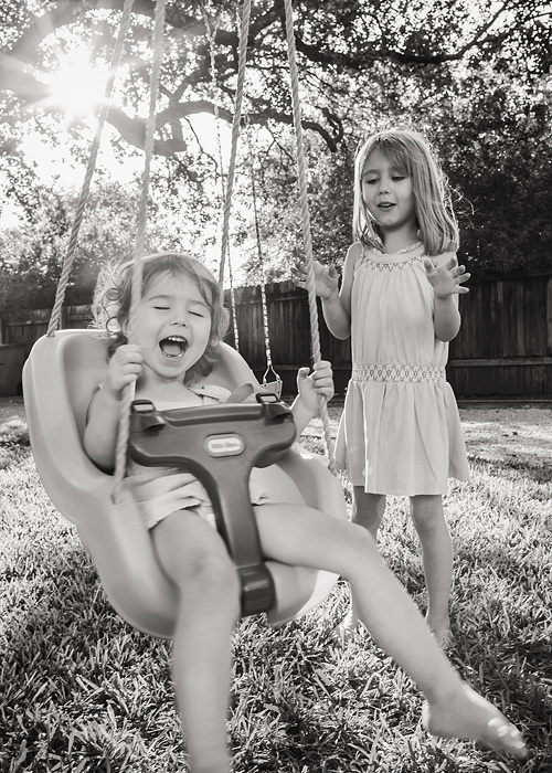 Playful children's photography in Austin